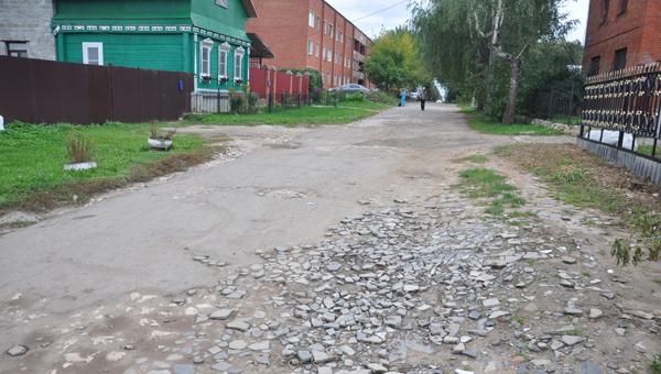 Недоделанная улица ремонта заждалась