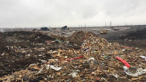 За неделю увеличился объем мусора, ввезенного на «Лесную»