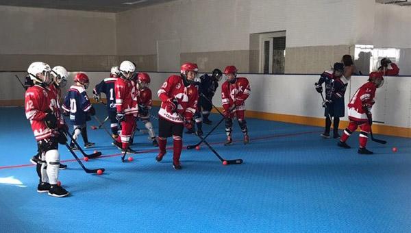 Первый в России матч по бол-хоккею среди юниоров прошел в Серпухове