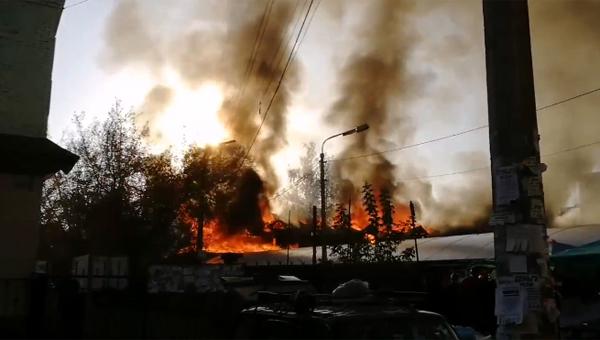 В Подмосковье загорелся ресторан