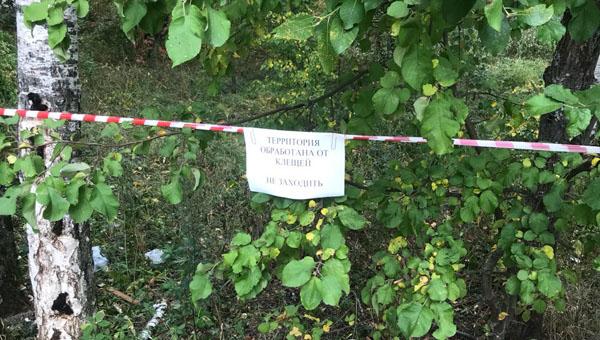 В городе Протвино закрыли проход через лес возле ТЦ «Слава»