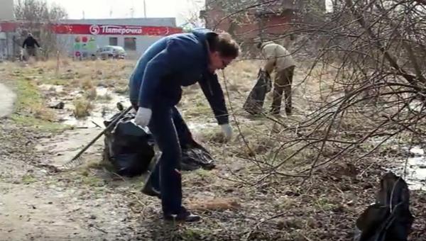В Серпуховском районе состоялся субботник
