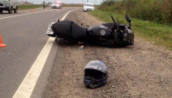 В Подмосковье при столкновении мотоцикла и легковушки погиб человек