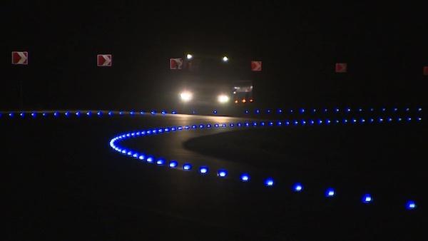 Трассу с подсветкой снизу построили в России