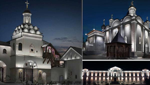 Подсветка Владычного монастыря в Серпухове обошлась в 28 млн. рублей