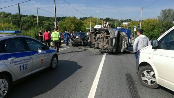В пригороде Серпухова произошло ДТП с участием трех автомобилей
