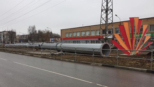 За что наказали фирму, монтирующую опоры ЛЭП в Серпухове?