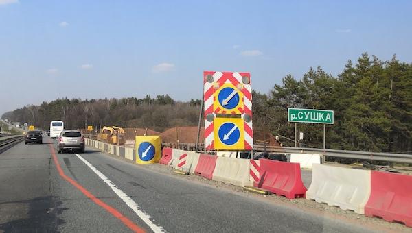 Из-за ремонта моста через Сушку на трассе М2 могут появиться заторы