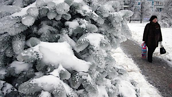 На города южного Подмосковья обрушится ледяной дождь