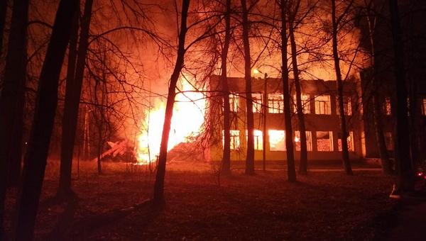 В Подмосковье дотла сгорела школа