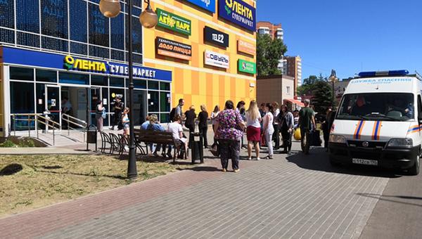 В Серпухове эвакуирован торговый центр