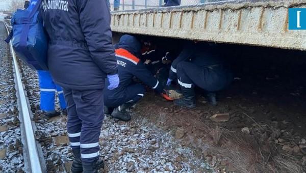 В Подольске пьяный пассажир свалился под перрон перед прибывающим поездом