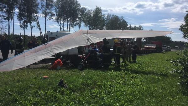 В Подмосковье разбился мотодельтаплан. Два человека погибли