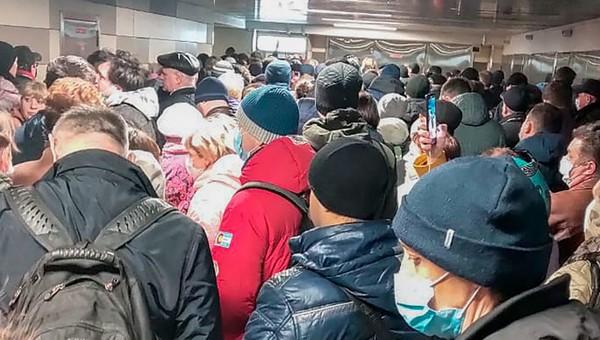 В московском метро устроили столпотворение