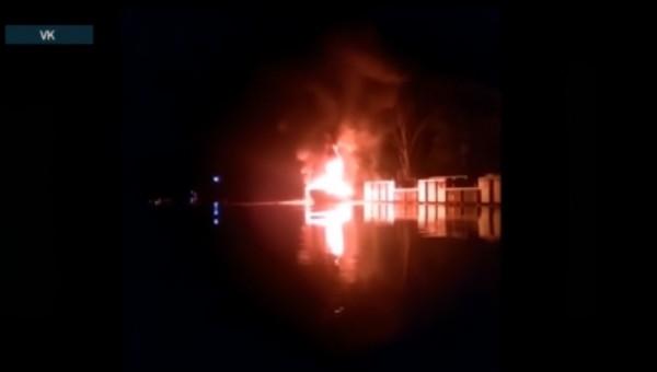 В Подмосковье на пирсе взорвалась частная яхта
