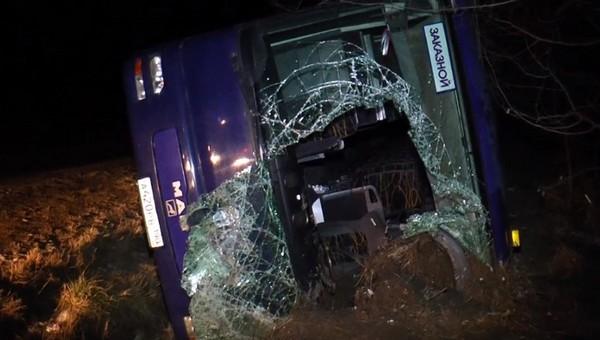 Автобус, полный паломников, перевернулся по пути в Москву