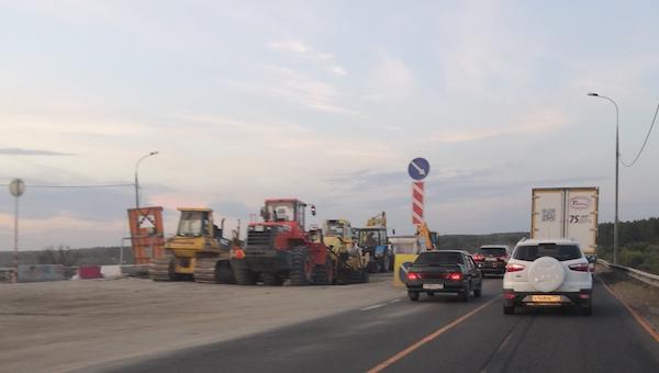 Когда закончат чинить трассу «Крым» под Серпуховом?