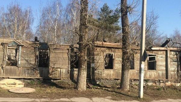 Столетний дом сравняли с землей в Серпухове
