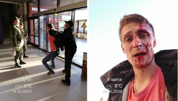 В подмосковном гипермаркете покупателю разбили лицо за нежелание надевать маску