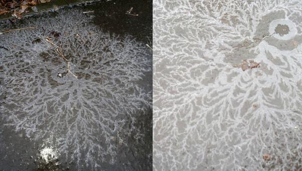Ледяное чудо увидели жители Серпухова возле городской святыни