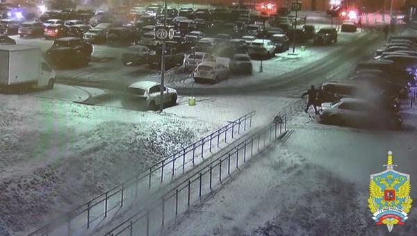В Подмосковье неадекват порубил топором 15 машин на парковке