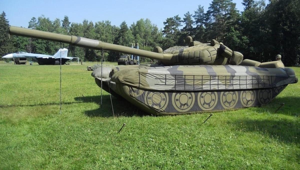 В Подмосковье замечены нестандартные танки