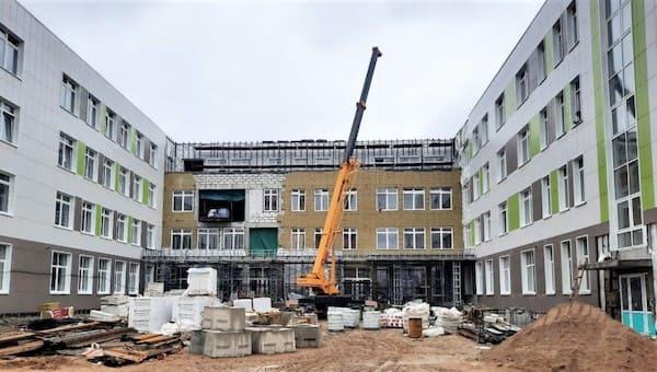 Новая школа в Серпухове готова на три четверти