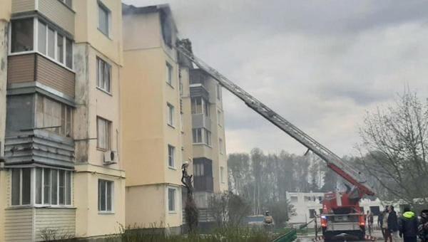 Сразу шесть квартир сгорели во время пожара в Заокском