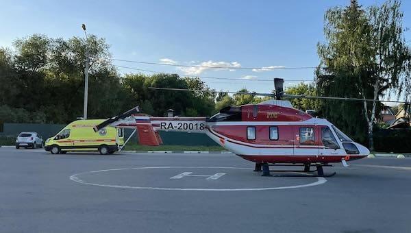 Пешехода, сбитого таксистом, вывозили из Серпухова вертолетом