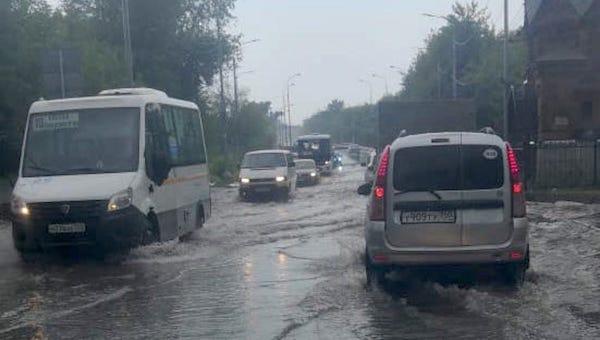 Улицы Серпухова не прошли испытание утренним ливнем