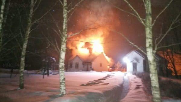 В «Усадьбе «Отрада» произошел пожар