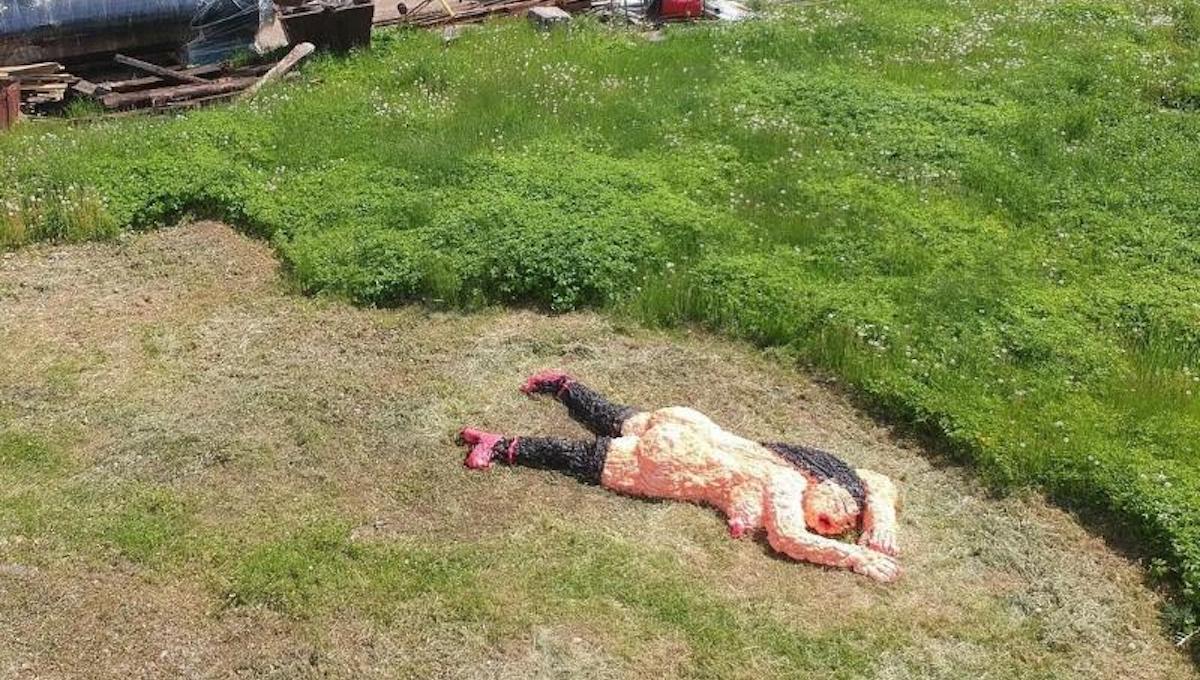 Гигантская обнаженная леди замечена в Протвино