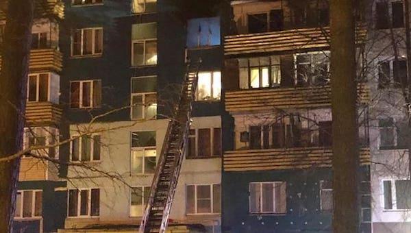 В протвинской высотке вспыхнул пожар
