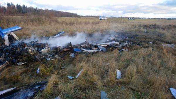 В Подмосковье потерпел крушение самолет