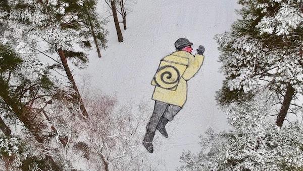 В Подмосковье картины-однодневки стали самыми яркими арт-объектами этой зимы
