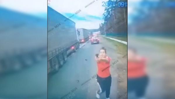 История с нападением на водителя грузовика под Серпуховом получила продолжение