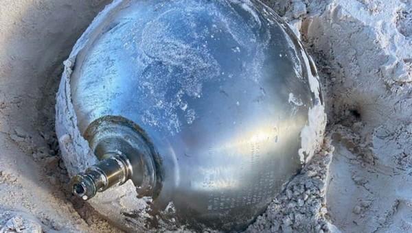 На Багамских островах нашли загадочный шар с надписями на русском