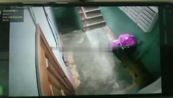 Подросток нагадил в детскую коляску и попал на камеру