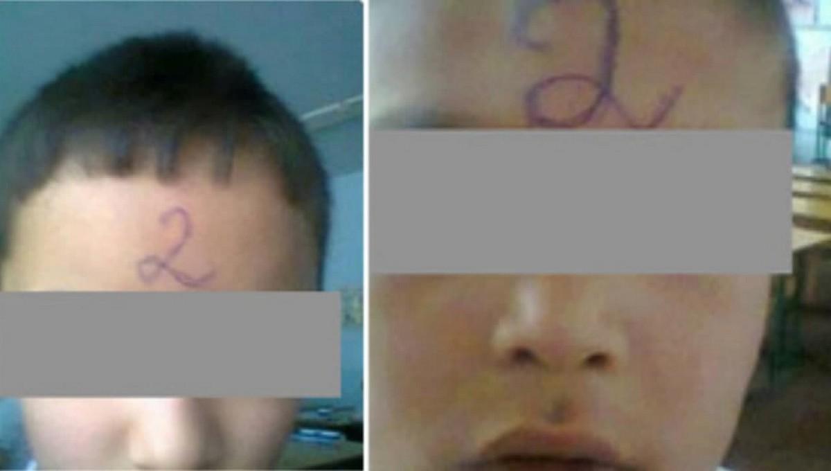 Учительница поставила первоклашке двойку прямо на лоб