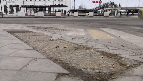 В Серпухове дорожная плитка превращается в труху