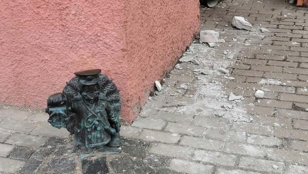 В Серпухове глыба цемента чуть не изуродовала павлина