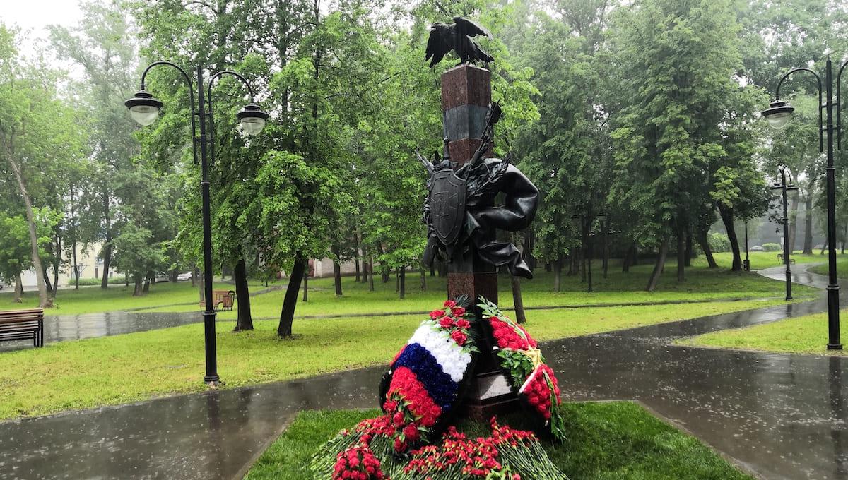 В Серпухове открыли памятник пограничникам