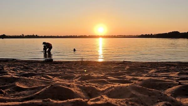 Вода в Оке стала теплее, чем в Черном море