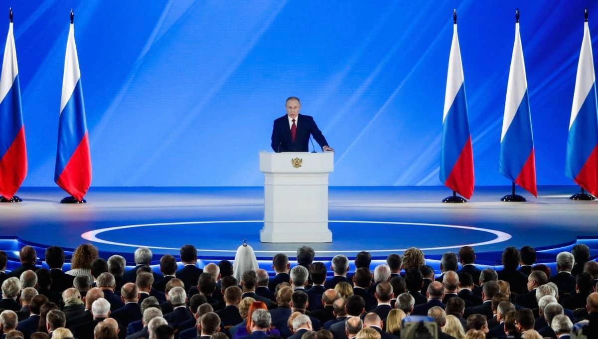Трансляция Послания Президента России Федеральному собранию