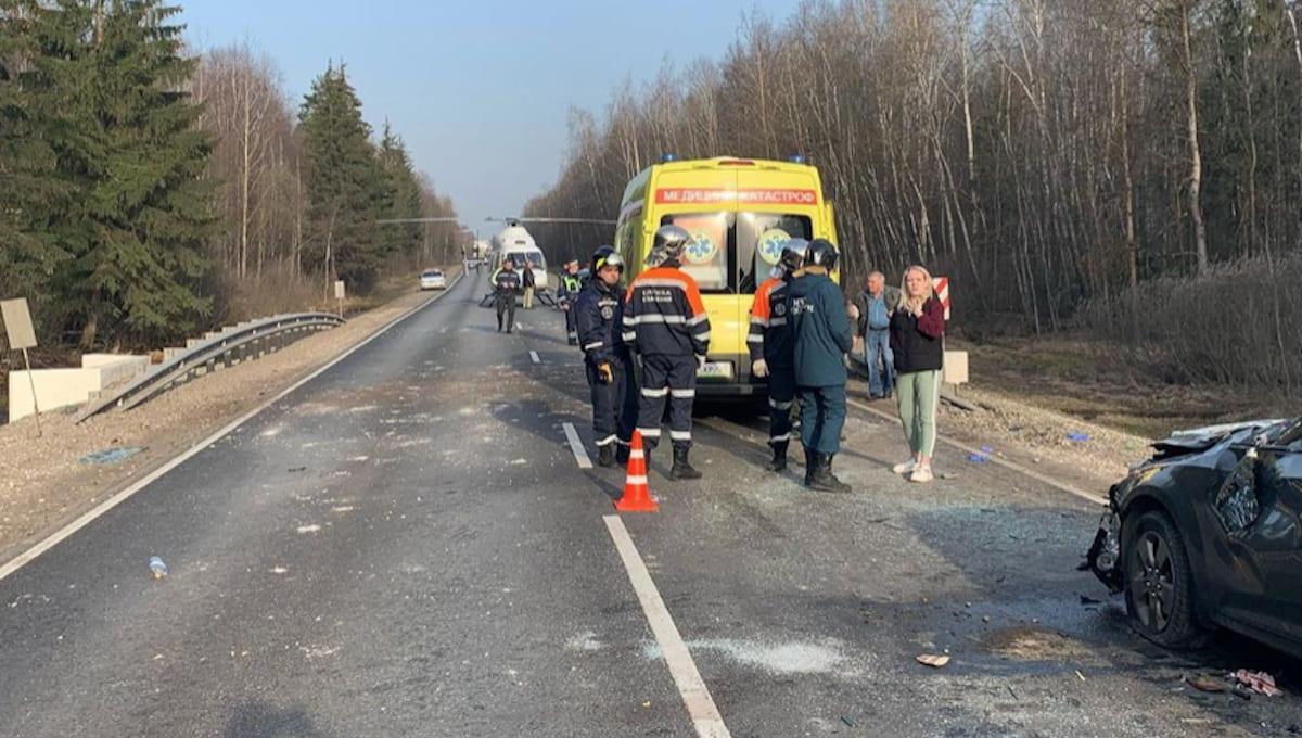 Две крупные аварии произошли сегодня утром в пригороде Серпухова