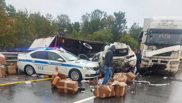 Массовое ДТП произошло сегодня утром на Симферопольском шоссе