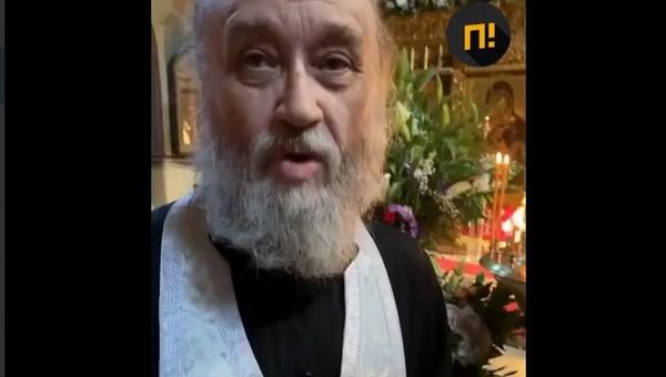 Накануне Пасхи батюшка побил прихожанина за съемку в храме