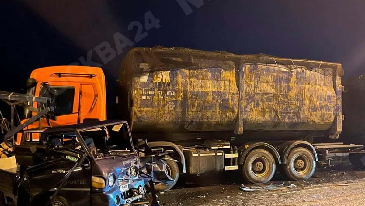 Крупная авария произошла на М2 на границе Московской и Тульской областей