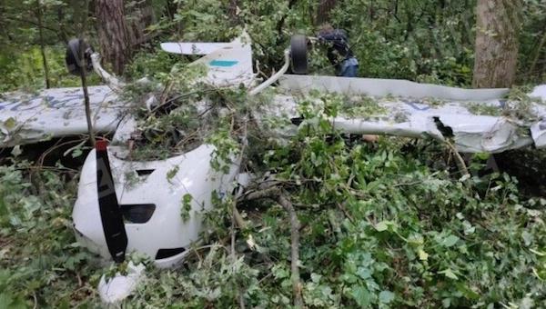 В Подмосковье рухнул самолет