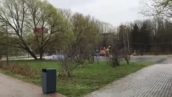 Дочка подмосковного чиновника снесла общественный туалет в парке